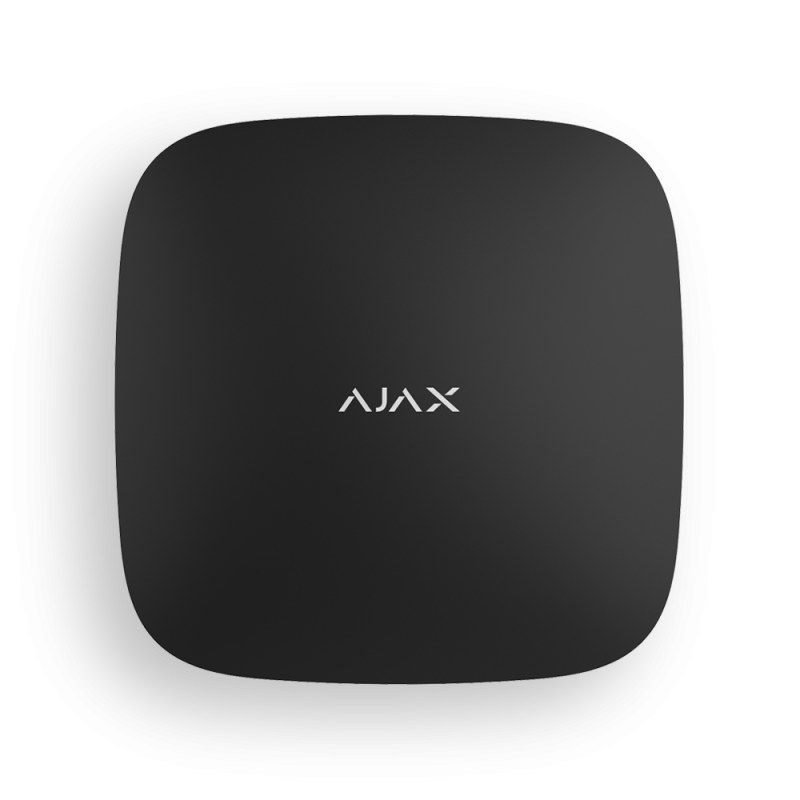Ajax Hub Plus black Смарт-центр с Ethernet, Wi-Fi, 3G и поддержкой двух SIM-карт